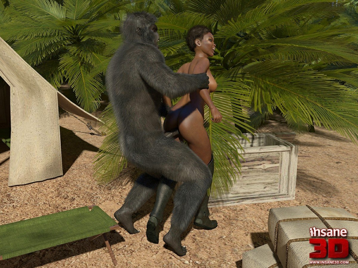 Fuck a gorilla, black cock wifes pussy