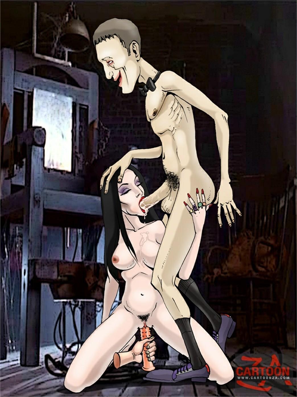 семейка аддамс порно комикс