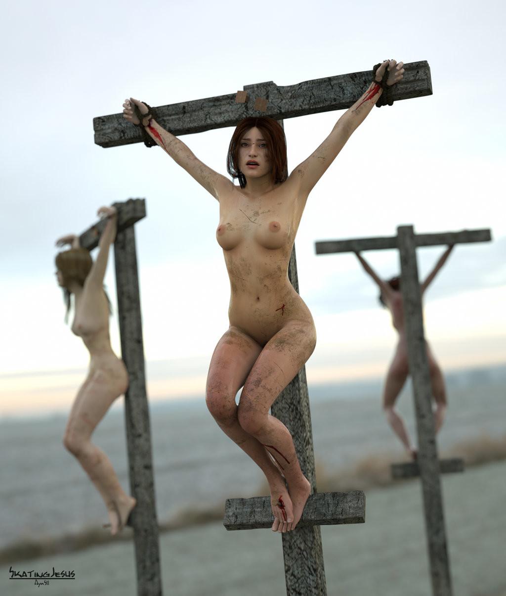 Star crucified bondage