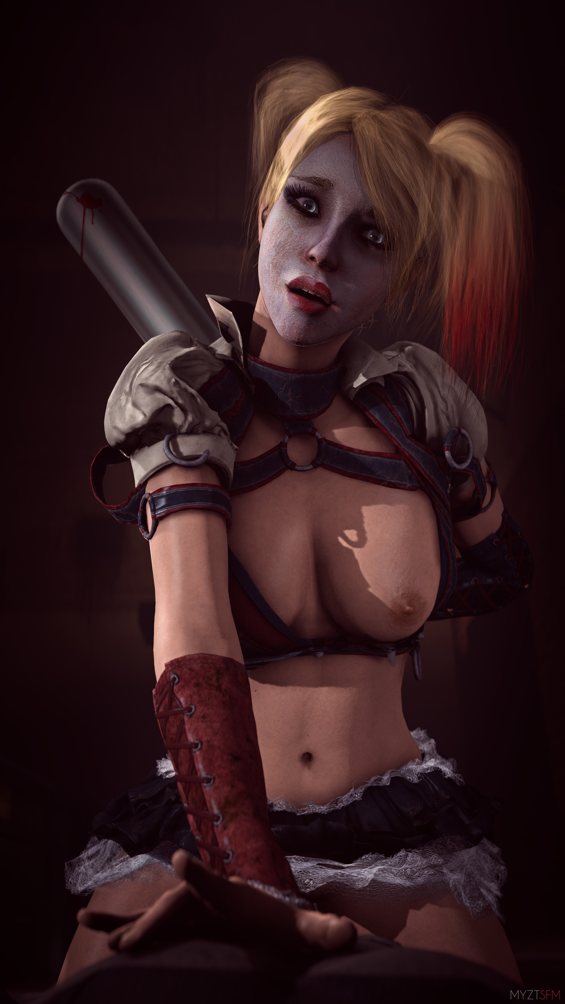 Batman arkham knight harley quinn nude