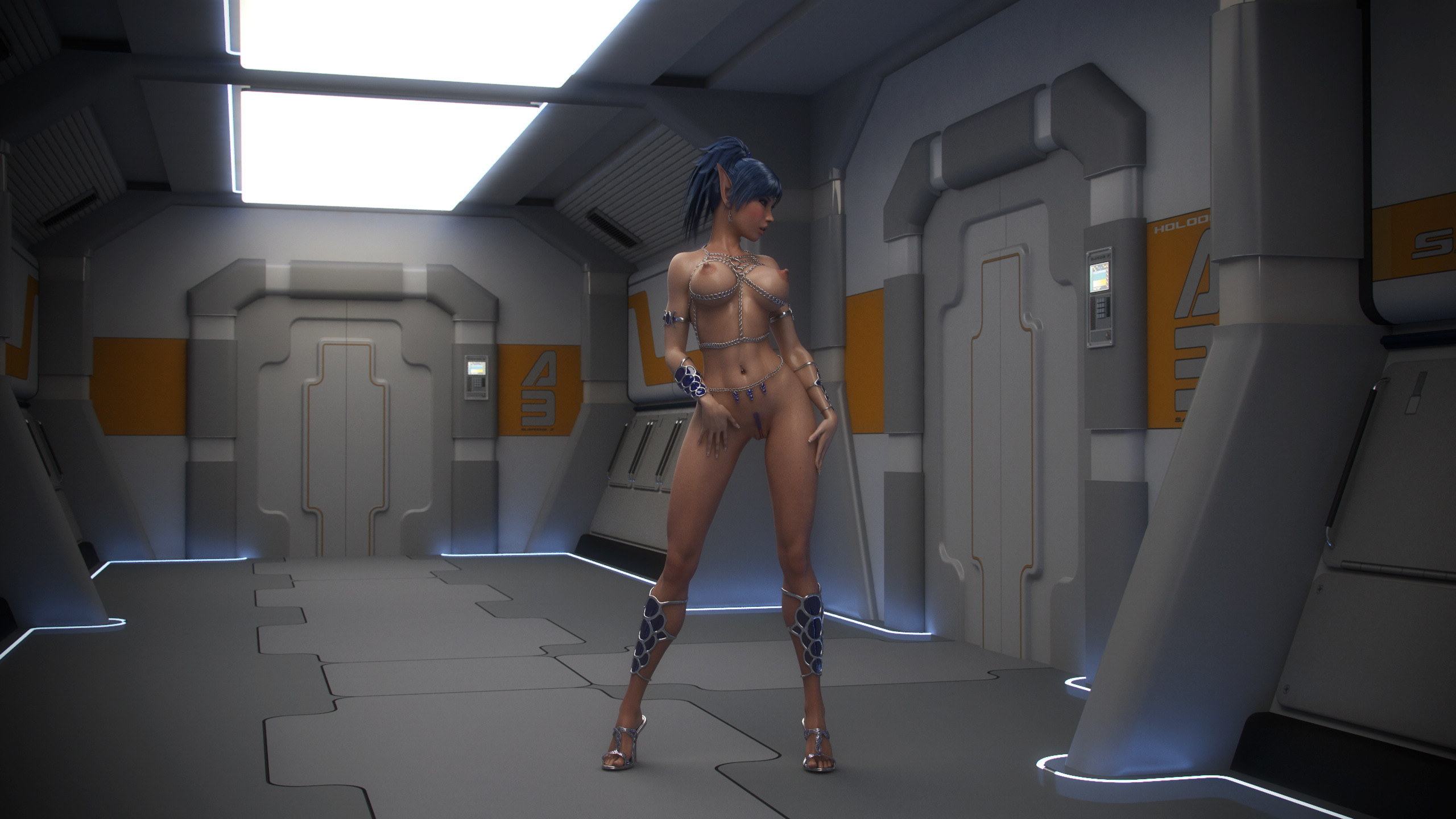 Hot porn star babes performing wild sci fi porn and alien sex in images