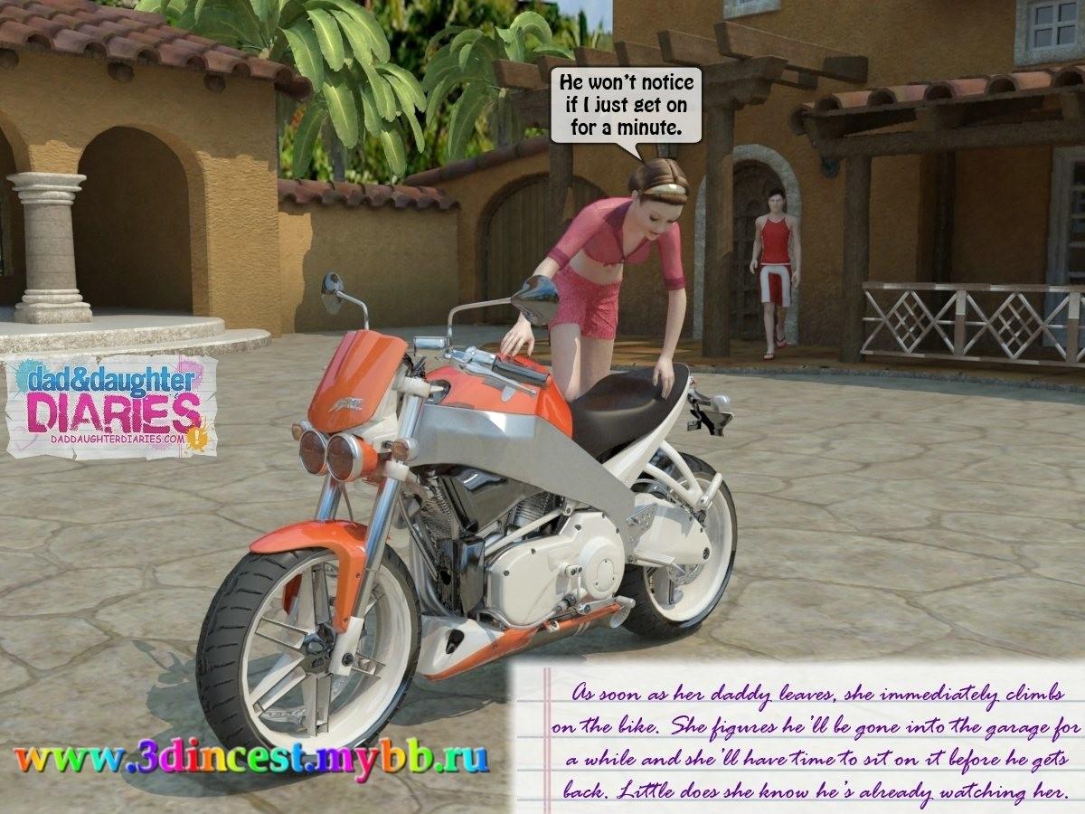 Handjob on motorbike