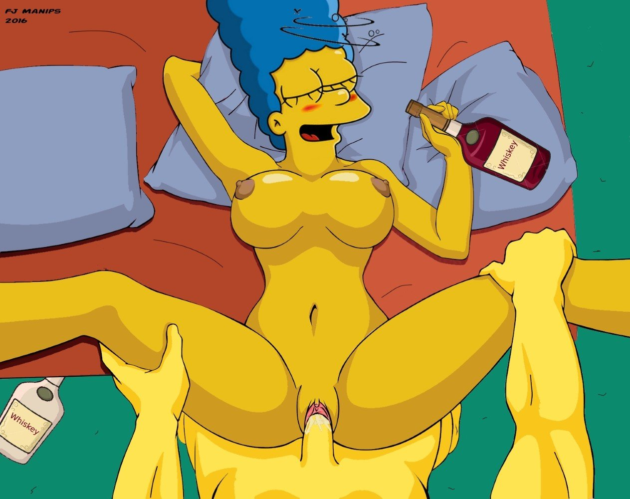 Flashing marge simpson masterbating