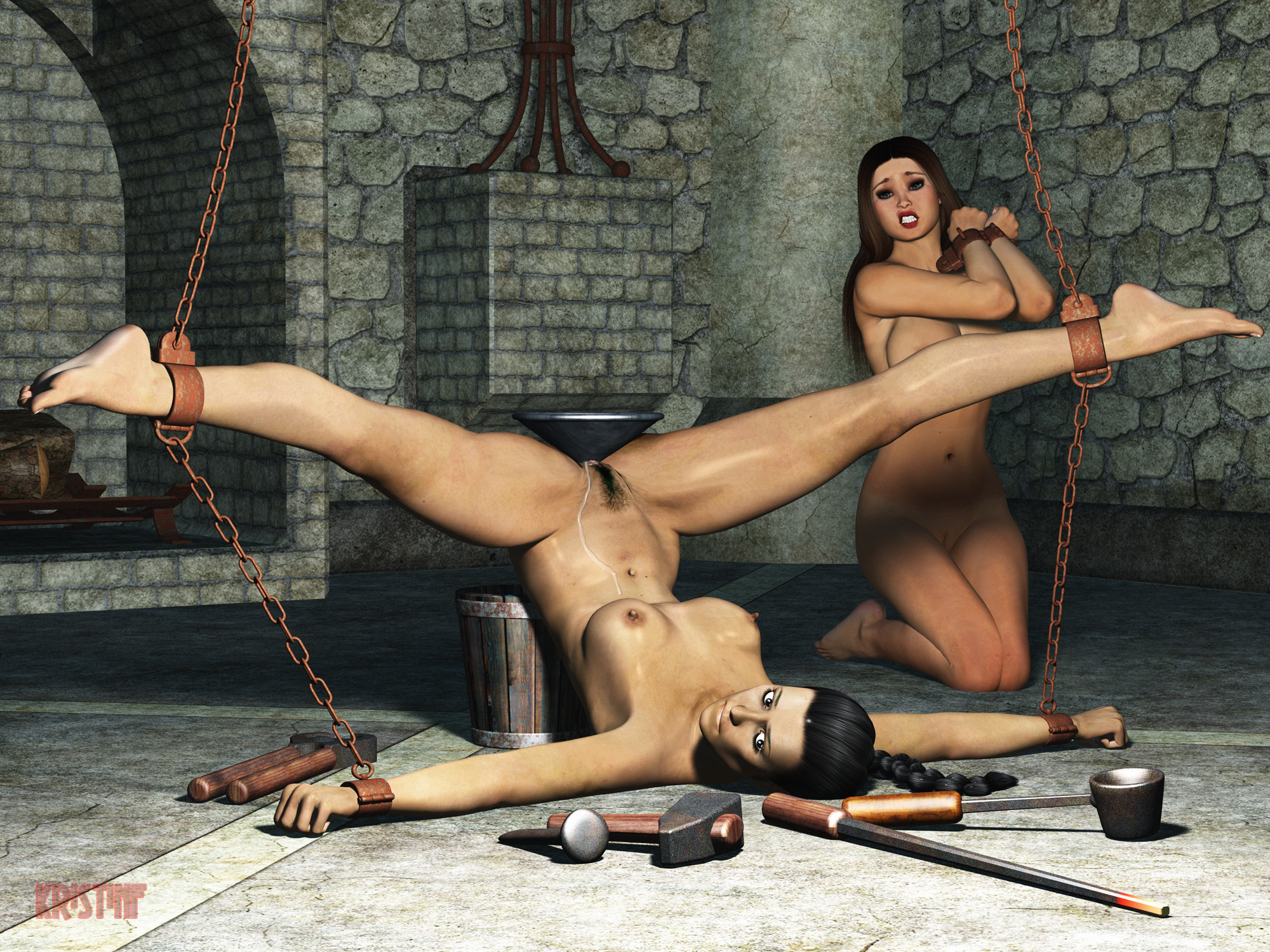 Striking milf abella danger tied up for bdsm deepthroat and pussy torture