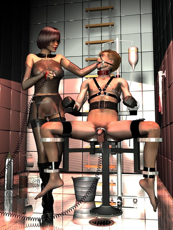 Cruel rubber bondage and femdom authoritarian