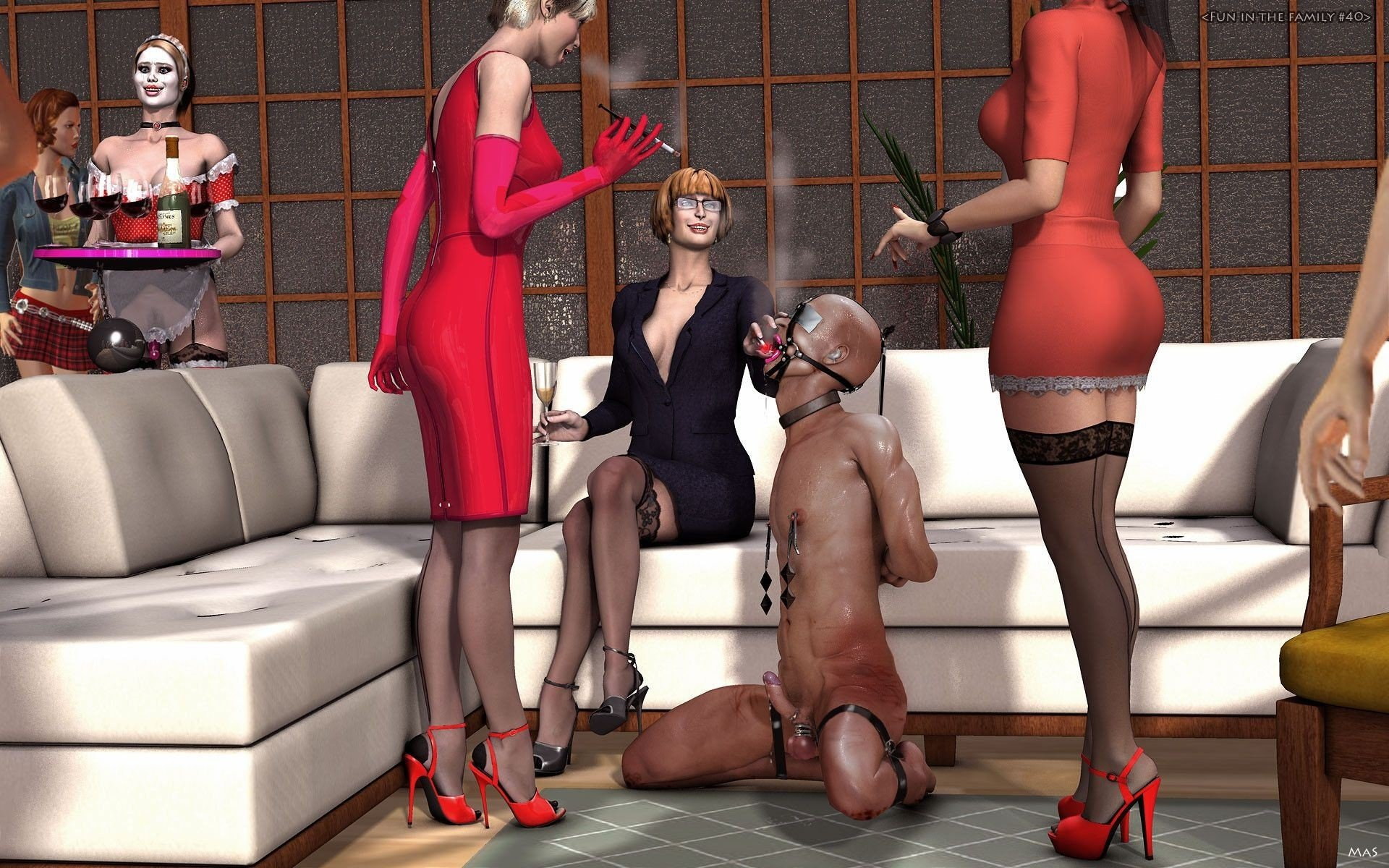Threeway sex secondlife femdom members orgasm