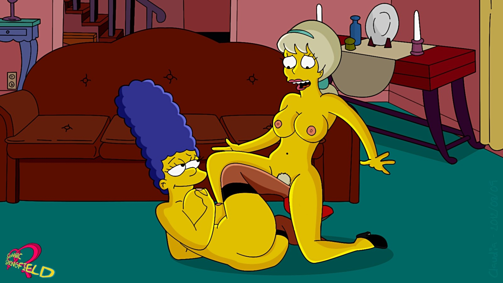 The simpsons naked having hard sex