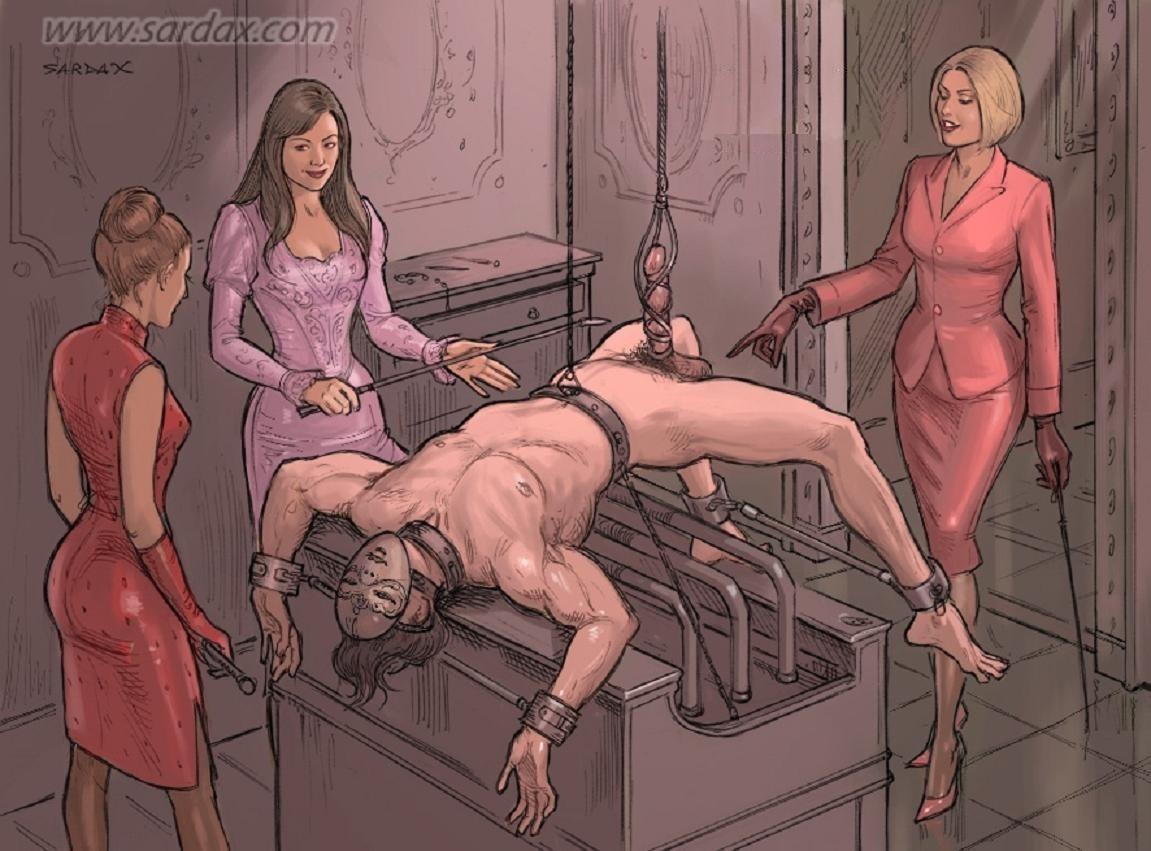 Forced bi cuckold femdom sissy strapon