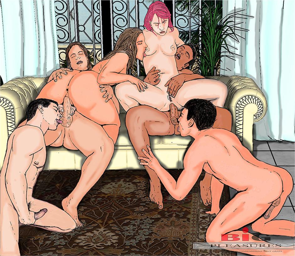 Bisexual orgy toons 10