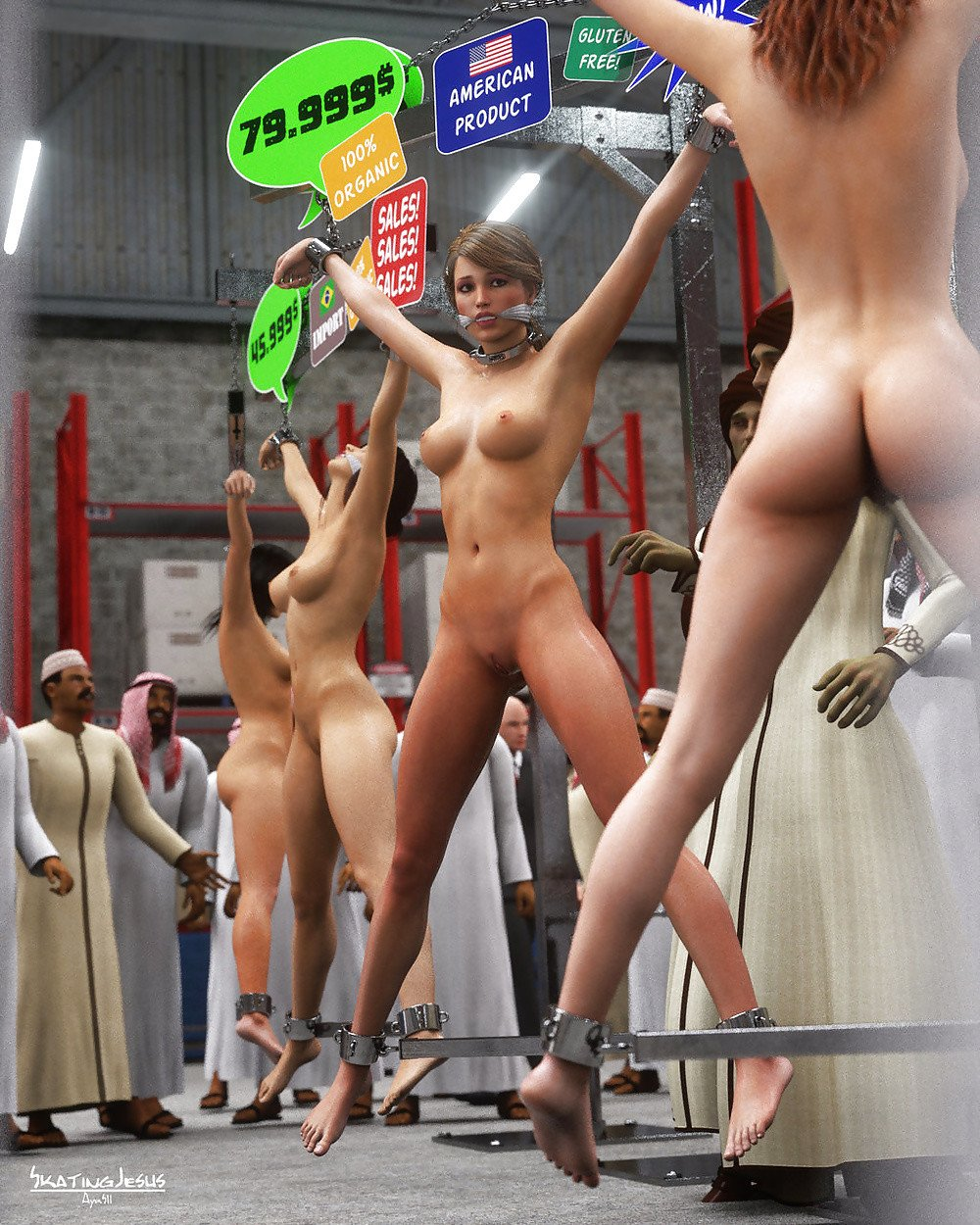 Naked Slave Auction