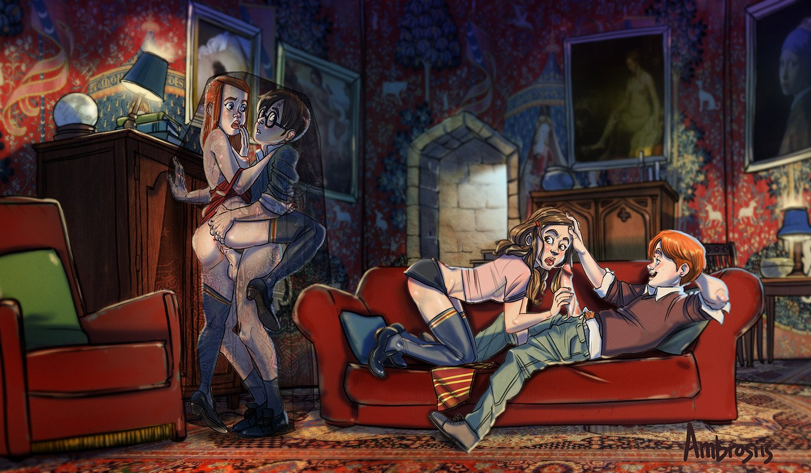 Fan artist upthehill on dramione, erotic art, and the magic of portraits fanfic magazine