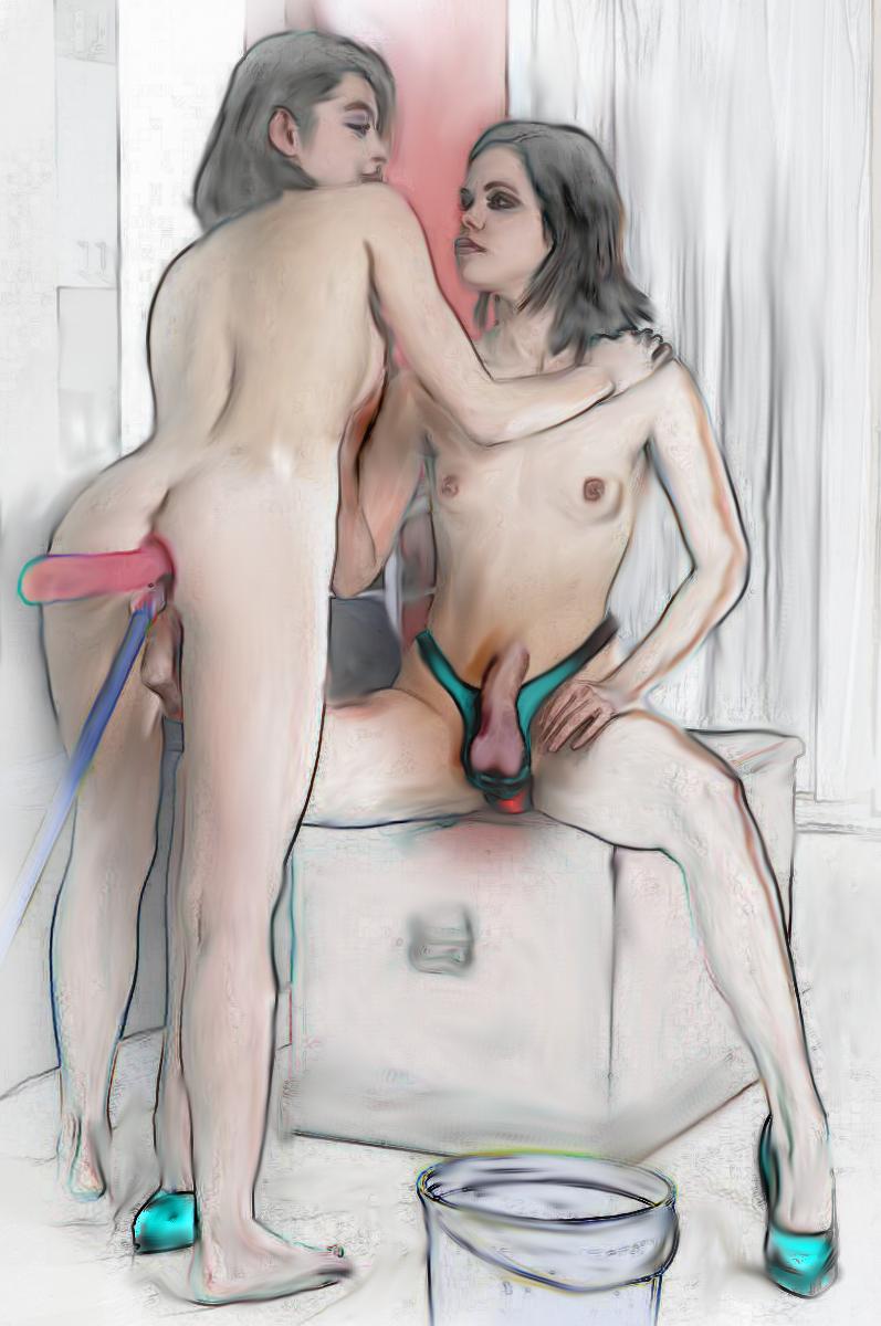 Conjoined twin masturbation porn — pic 9