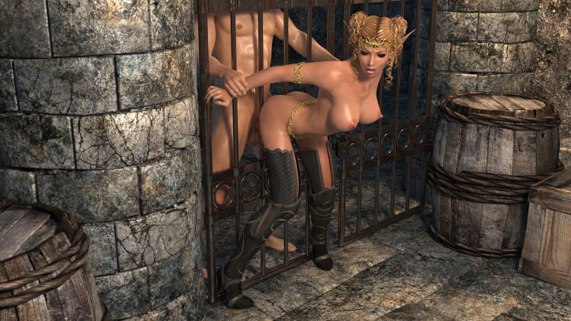 Эльфийка из эротическая игра, Сексуальная эльфийка ебется с орком из игры Warcraft 23 фотография