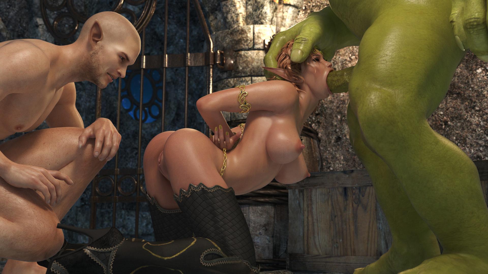 секс эльфийки и орка