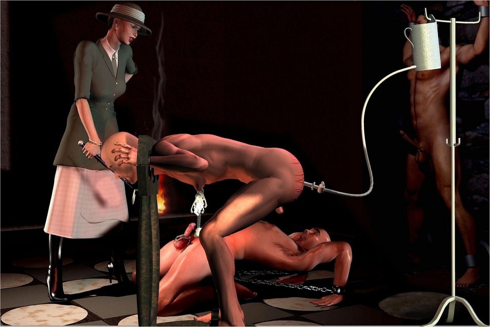 Female domination male spekula torture, chubby girls get facials