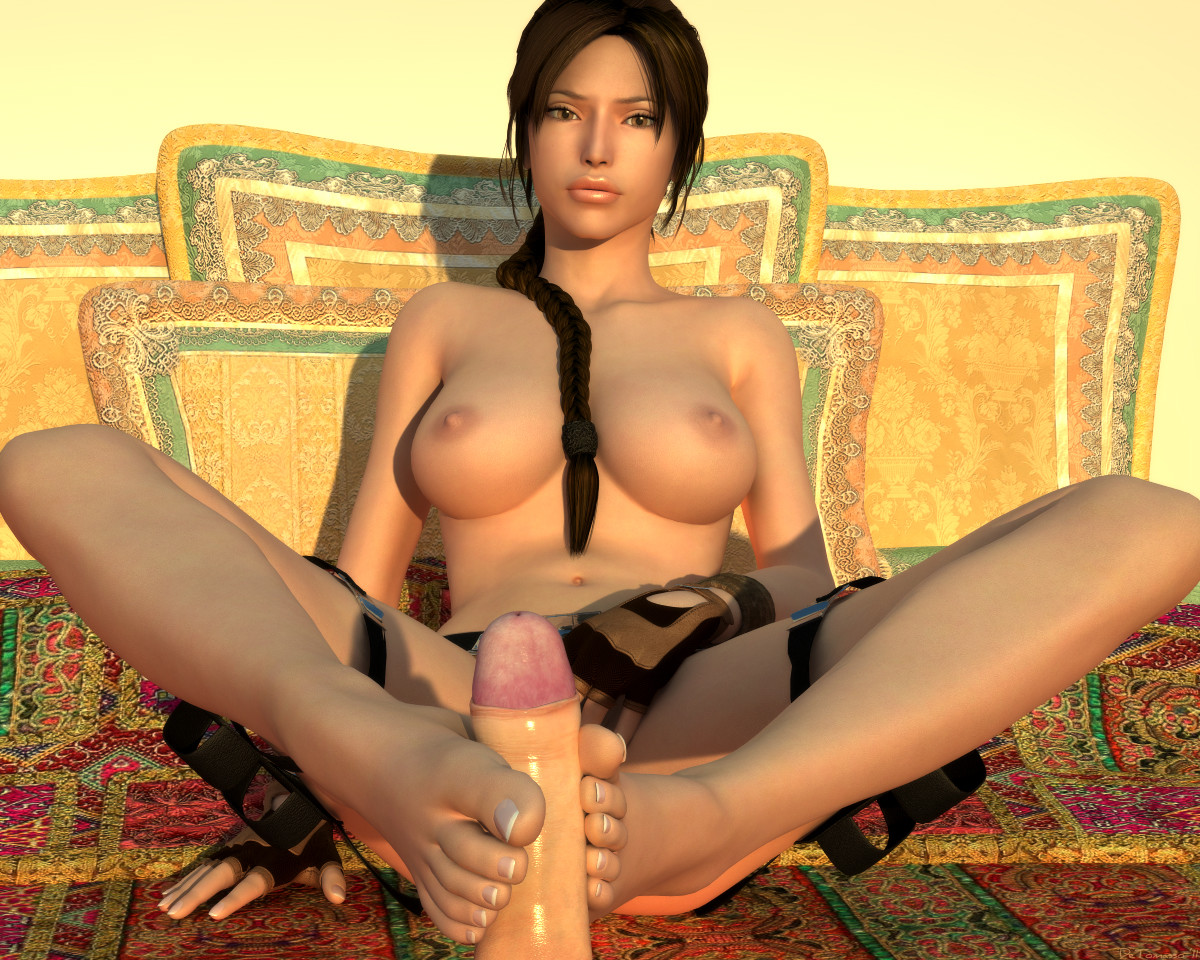 Girlfried pics lara croft barefoot having sex