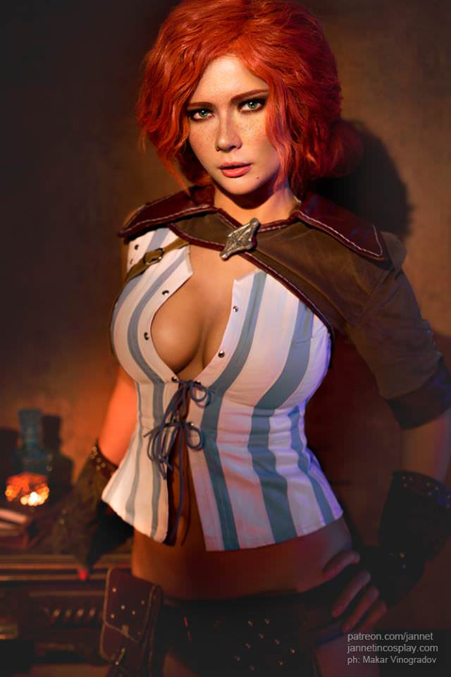 read triss merigold by jannet incosplay the witcher