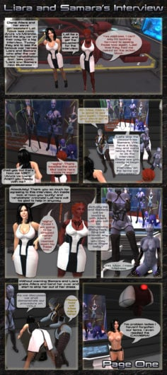 Mass Effect lesbian comic: Chapter 40 Liara and Samara's intervi