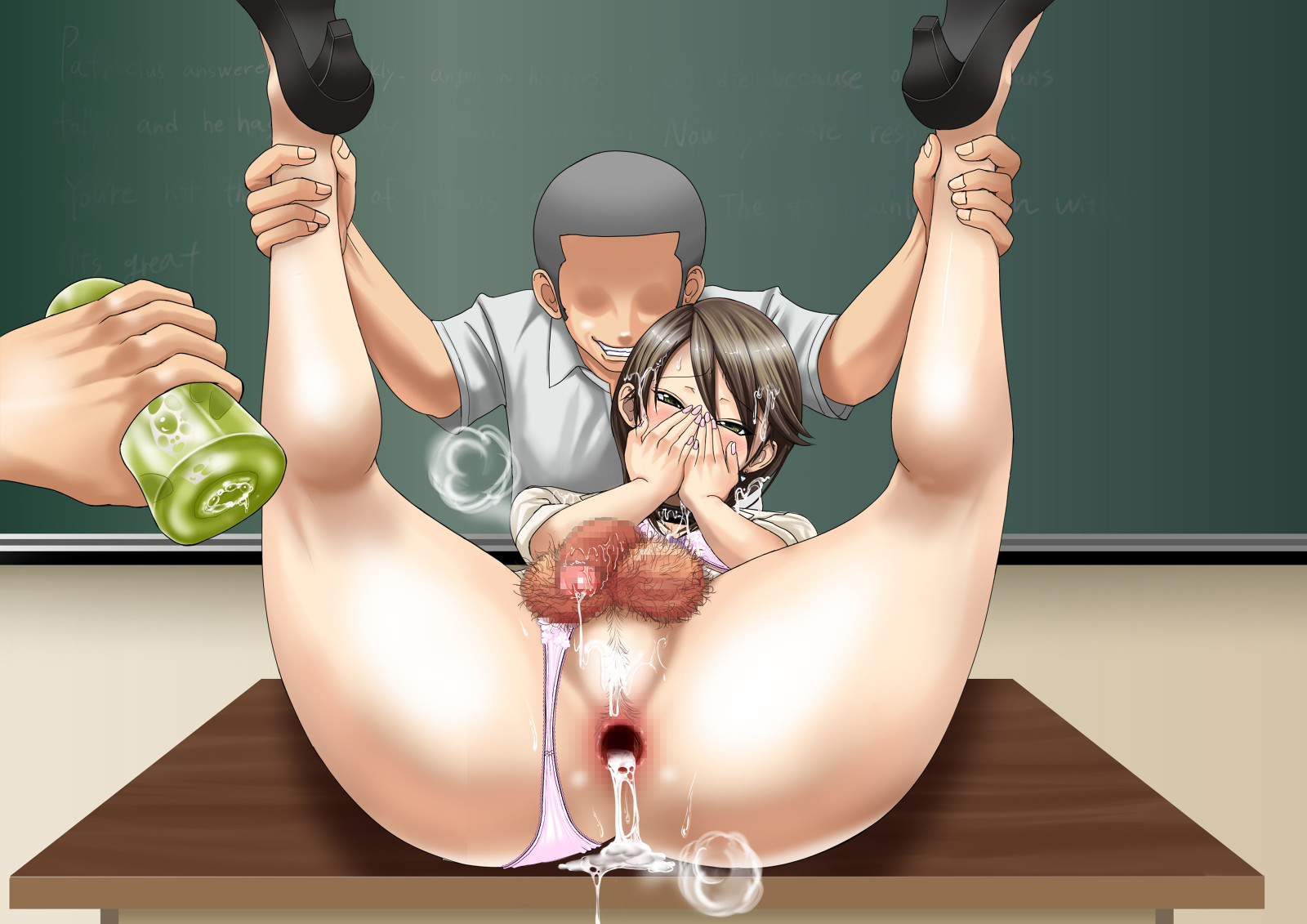 Hentai teacher forced