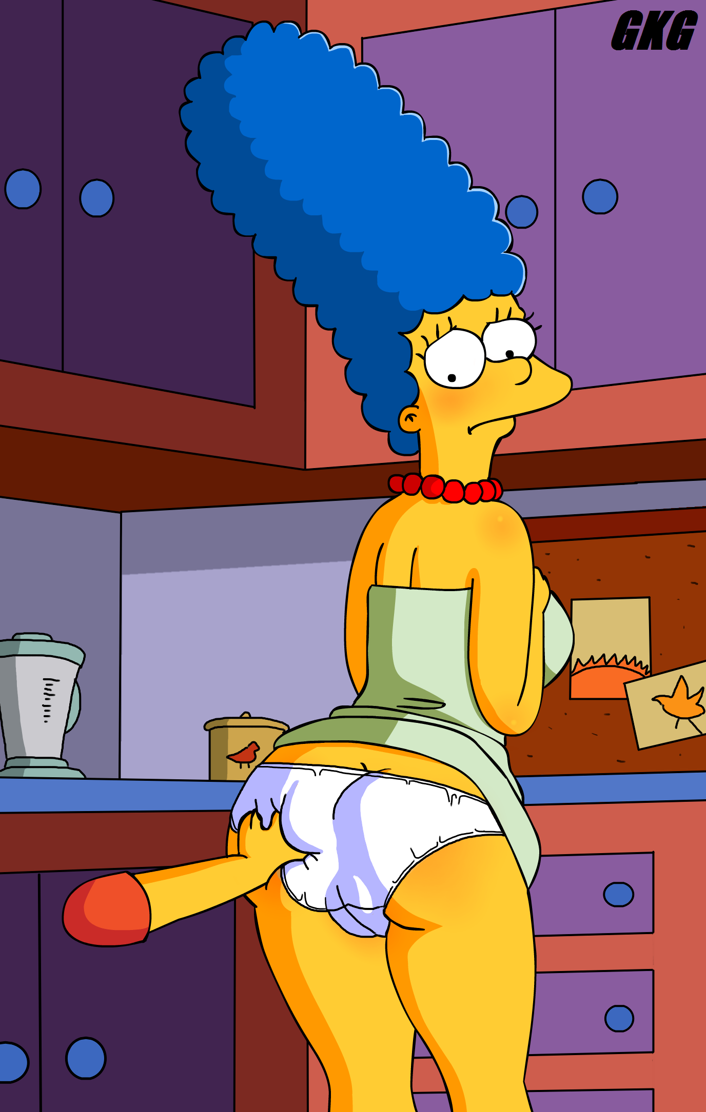 Nude Marge Simpson Show Her Pussy