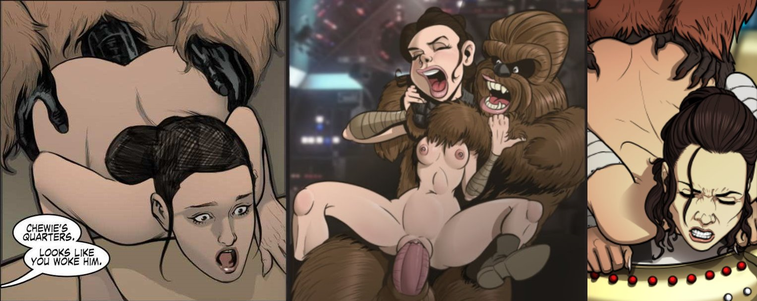 Chewbacca Punishing Rey