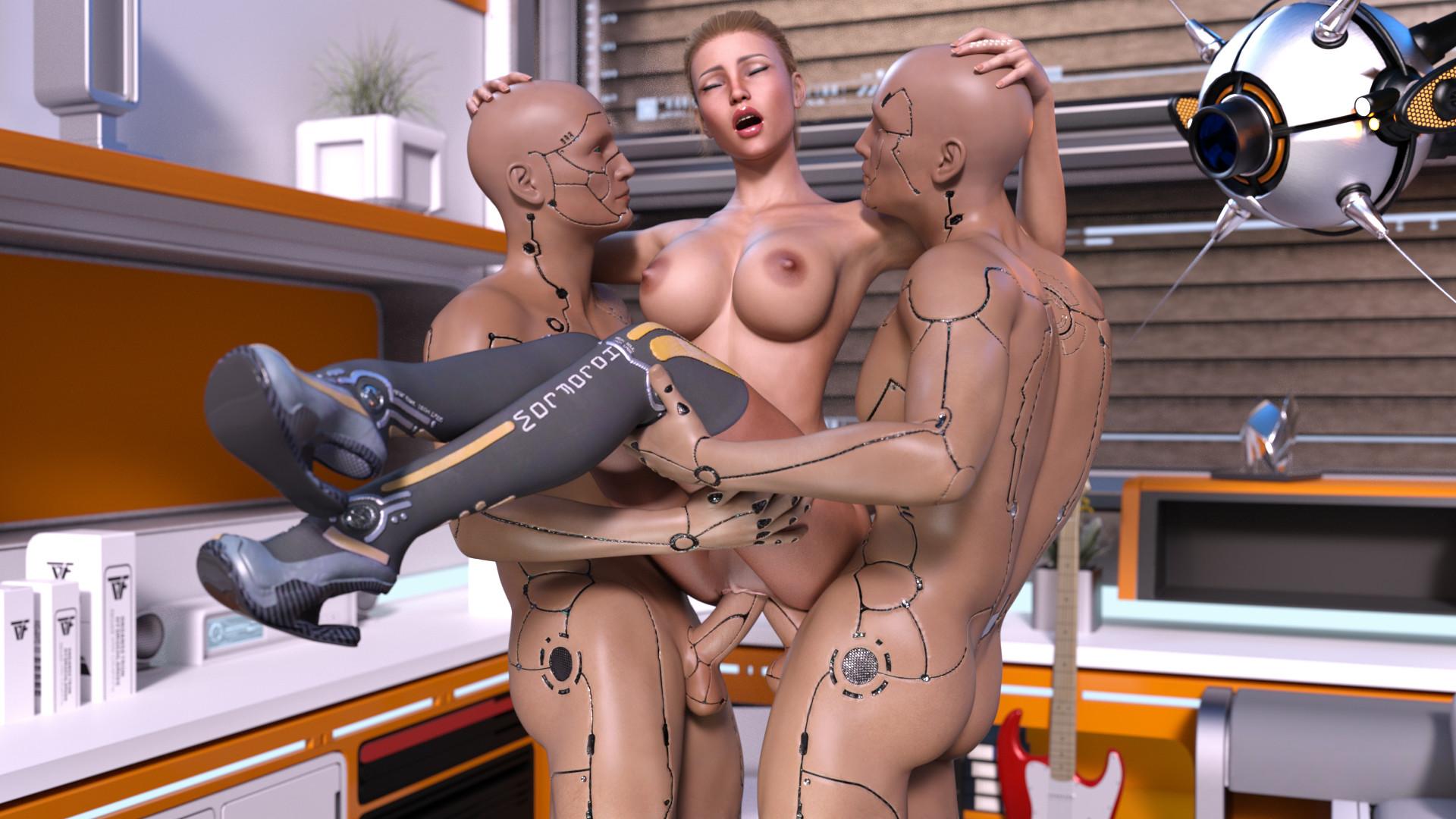 telku-trahaet-robot