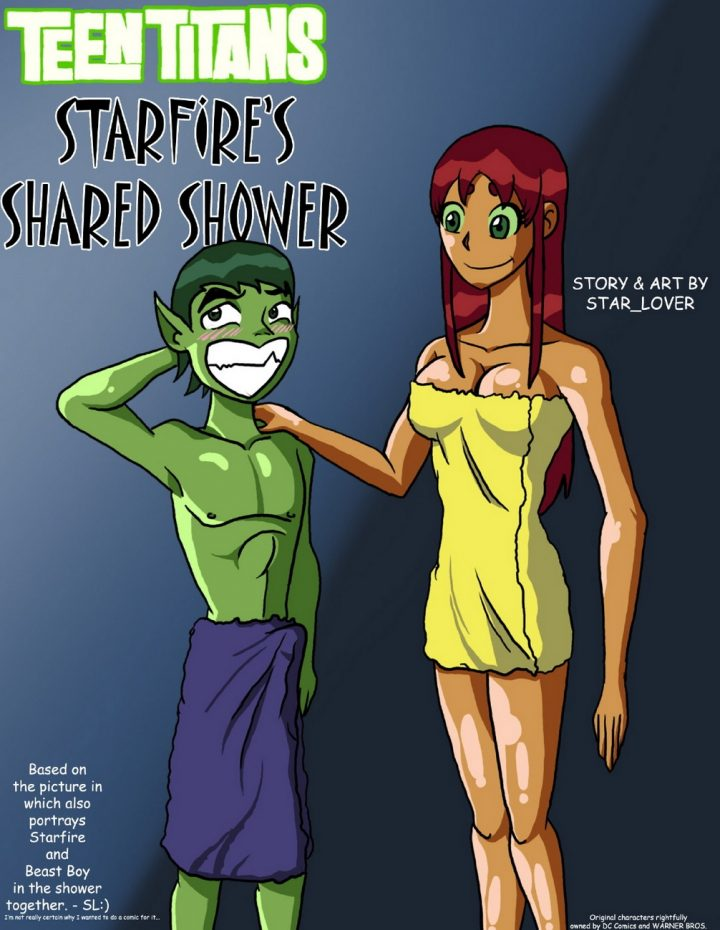view starfire s shared shower hentai porn free